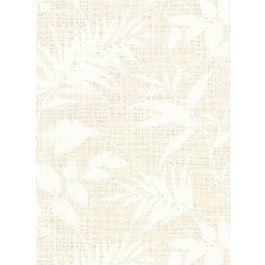 2921-50807 Chandler White Botanical Faux Grasscloth Wallpaper | The Fabric Co