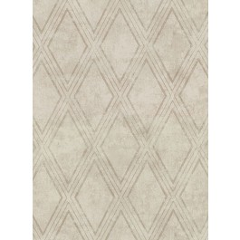 2921-51005 Dartmouth Taupe Faux Plaster Geometric Wallpaper | The Fabric Co