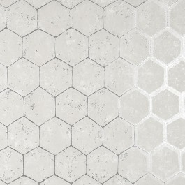 2927-00406 Starling Silver Honeycomb Wallpaper | The Fabric Co