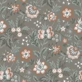 2948-28002 Athena Grey Floral Wallpaper   The Fabric Co