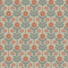 2948-28006 Aya Beige Floral Wallpaper   The Fabric Co