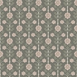 2948-28008 Aya Grey Floral Wallpaper | The Fabric Co