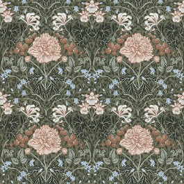 2948-28019 Celestine Green Floral Wallpaper | The Fabric Co