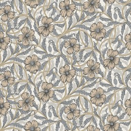 2948-28025 Imogen Neutral Floral Wallpaper   The Fabric Co