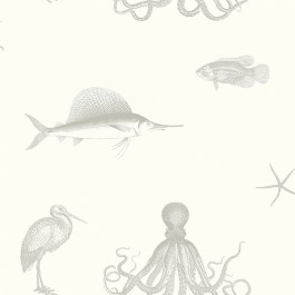 3113-12013 Oceania Grey Sea Creature Wallpaper