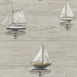 3113-12023 Set Sail Grey Wood Wallpaper