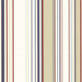3113-58516 Cape Elizabeth Red Stripe Wallpaper