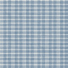 3119-02146 Tristan Navy Prairie Gingham Wallpaper | The Fabric Co