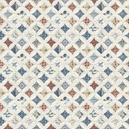 3119-13001 Mcentire Off-White Geometric Quilt Wallpaper | The Fabric Co