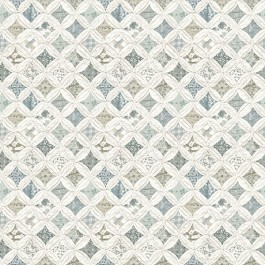 3119-13002 Mcentire Teal Geometric Quilt Wallpaper   The Fabric Co