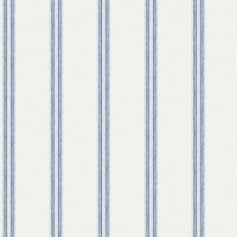 3119-13072 Johnny Navy Stripes Wallpaper   The Fabric Co