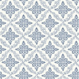 3119-13532 Wynonna Navy Geometric Floral Wallpaper | The Fabric Co