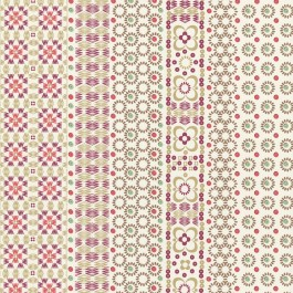 330222 Conta Pink Sequin Embroidered Stripe Wallpaper