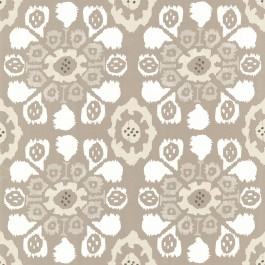 330235 Valencia Taupe Ikat Floral Wallpaper