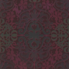 330505 Javay Magenta Abstract Suzani Wallpaper