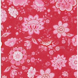 341011 Kali Red Folklore Chintz Wallpaper