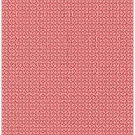 341022 Eebe Red Floral Geometric Wallpaper