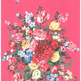 341041 Ayaanle Pink Dutch Painters Floral Wallpaper