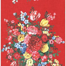 341042 Ayaanle Red Dutch Painters Floral Wallpaper