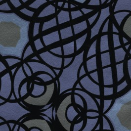 341731 Caspian Blueberry Swirling Geometric Wallpaper