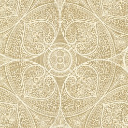 341751 Yasamin Gold Mehndi Medallion Wallpaper