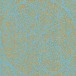 341752 Yasamin Teal Mehndi Medallion Wallpaper