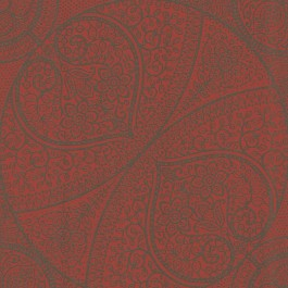 341755 Yasamin Red Mehndi Medallion Wallpaper