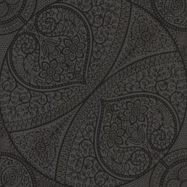 341757 Yasamin Black Mehndi Medallion Wallpaper