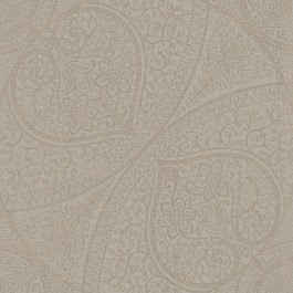 341758 Yasamin Taupe Mehndi Medallion Wallpaper