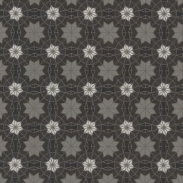 341775 Marqueterie Black Mosaic Geometric Wallpaper