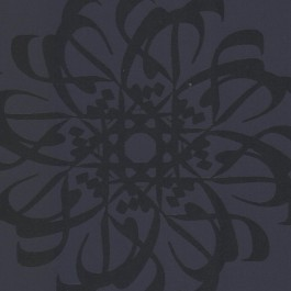 341783 Hazar Afsan Black Modern Medallion Wallpaper