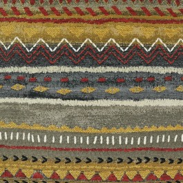 Crafting Copper Canyon Taupe Red  Gold Ethnic Southwest Upholstery Swavelle Mill Creek Fabric