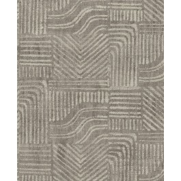 2930-391534 Pueblo Taupe Global Geometric Wallpaper   The Fabric Co