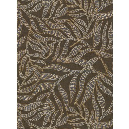 2930-391550 Montrose Brown Leaves Wallpaper | The Fabric Co
