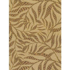 2930-391555 Montrose Coffee Leaves Wallpaper | The Fabric Co