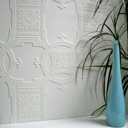 437-RD01600 Early Victorian Paintable Textured Vinyl Wallpaper