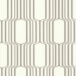 488-31215 Vina Brass Square Ogee Wallpaper