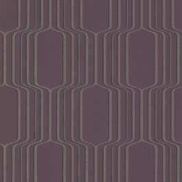 488-31216 Vina Purple Square Ogee Wallpaper