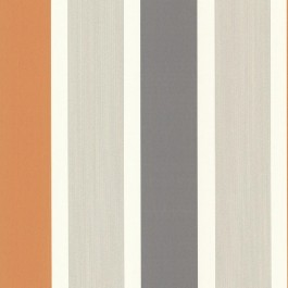 488-31226 Horizon Orange Stripe Wallpaper