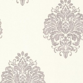 671-68502 Duchess Silver Damask Wallpaper