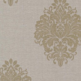 671-68516 Duchess Taupe Damask Wallpaper