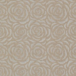 671-68520 Rosette Brass Rose Pattern Wallpaper