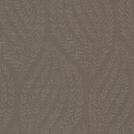 671-68522 Calix Dark Brown Sienna Leaf Wallpaper