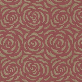 671-68524 Rosette Red Rose Pattern Wallpaper