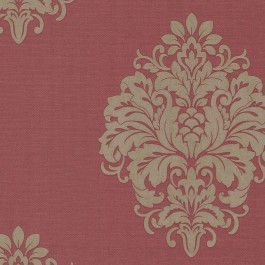 671-68525 Duchess Red Damask Wallpaper