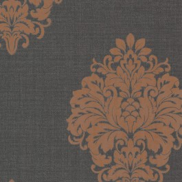 671-68531 Duchess Orange Damask Wallpaper
