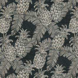 Carate Batik Noche Blue Medium Novelty Tropical Pineapples Tommy Bahama Outdoor Fabric