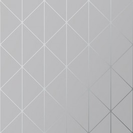 2928-8807 Diamonds Grey Geometric Wallpaper | The Fabric Co