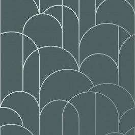 2928-8825 Arch Slate Geometric Wallpaper | The Fabric Co