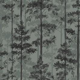 2928-8826 Pine Sage Silhouette Trees Wallpaper | The Fabric Co